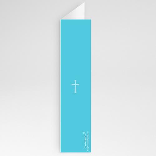 Menu de Baptême - Croix Contemporaine Bleue 24728 thumb