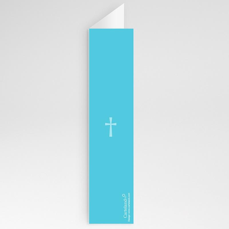 Menu Baptême Croix Contemporaine Bleue gratuit