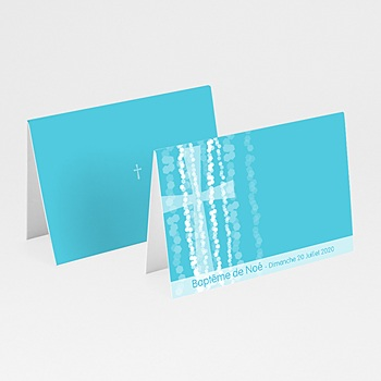 Acheter marque place baptême croix contemporaine bleue
