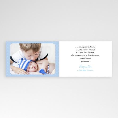 Faire-Part Naissance Garçon - Bleu Princier 24899 thumb