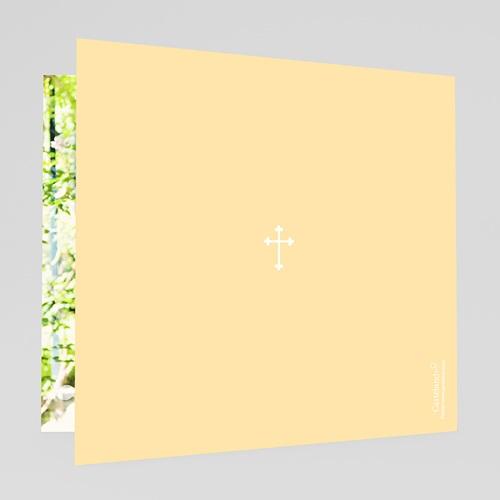 Remerciements Communion Fille - Communion  illustrée - jaune 24937 thumb