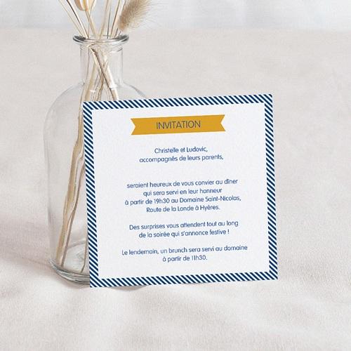 Carton Invitation Personnalisé Air Marin