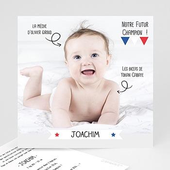 Faire-Part naissance humoristique - Champion du monde - 1