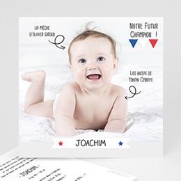 Faire-Part naissance humoristique - Football 25002