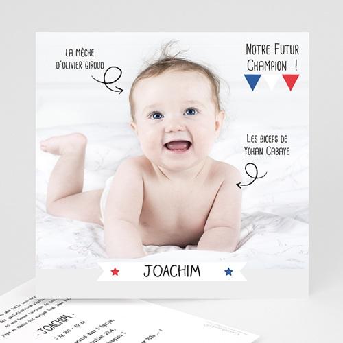 Faire-Part naissance humoristique - Football 25002 thumb