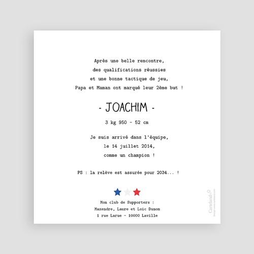 Faire-Part naissance humoristique - Football 25003 thumb