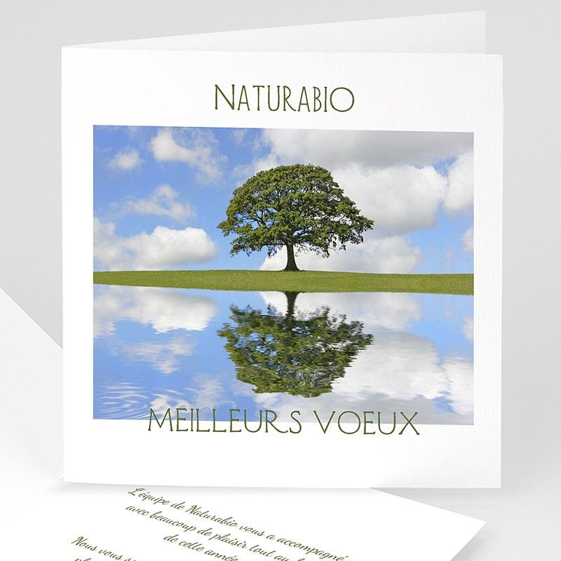 Carte de Voeux Entreprise Préservons la nature