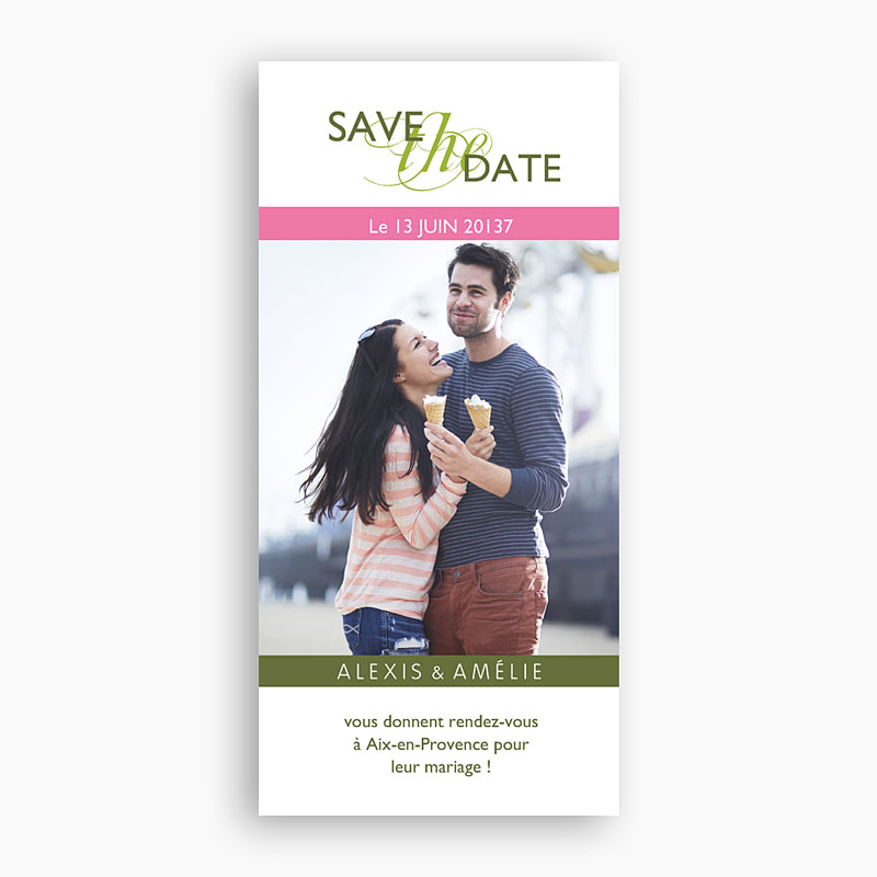 Save the date mariage Thème Printanier
