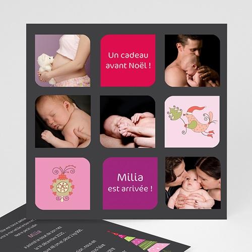 Carte de Voeux 2018 - Première carte de voeux de bébé 2598