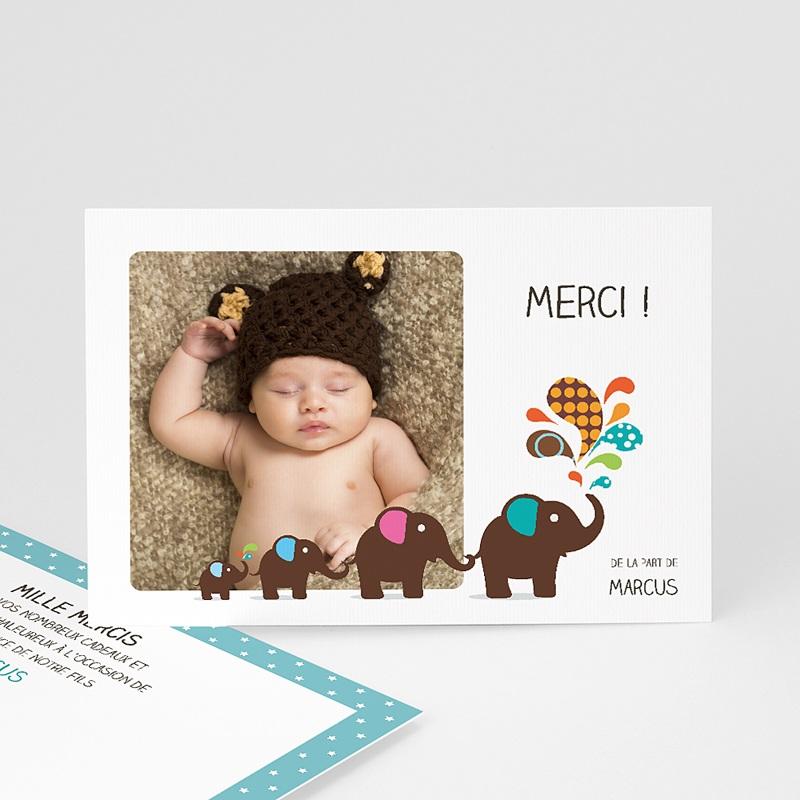 Carte remerciement naissance garçon Marcus