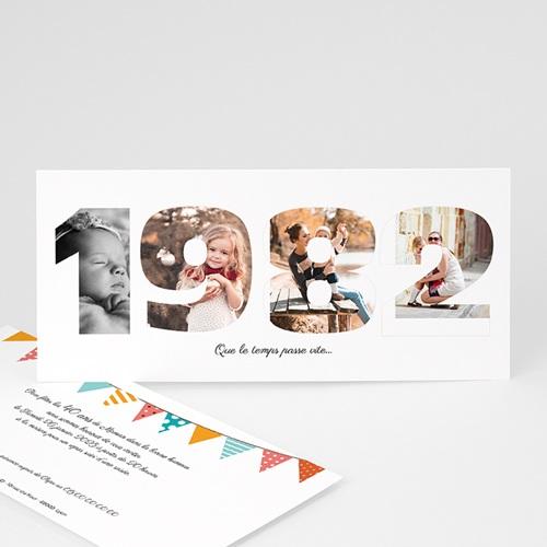 Carte Invitation Anniversaire Adulte L'année de Naissance