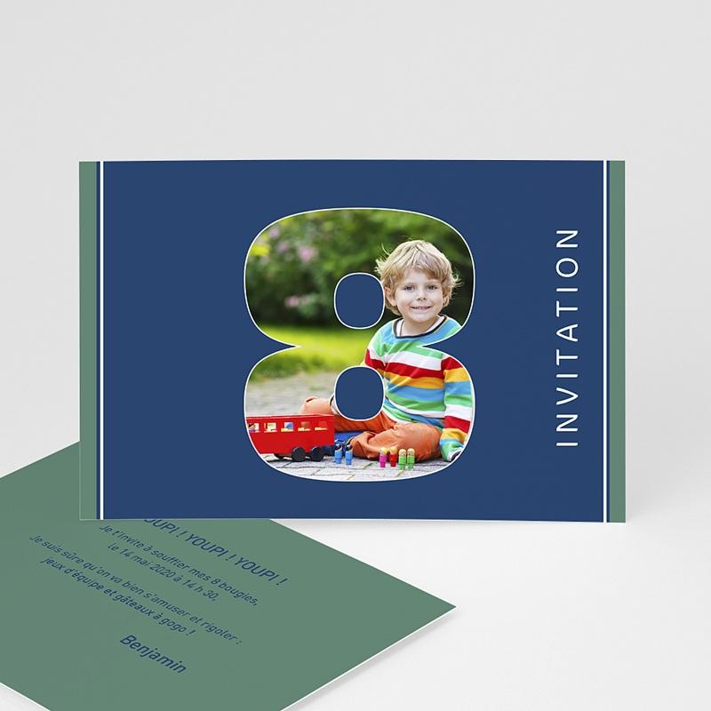 Carte invitation anniversaire garçon 8 ans fille et garçon