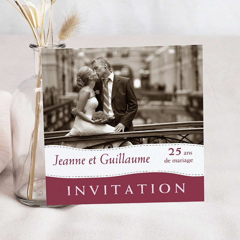 Carte Invitation Anniversaire Mariage Noces