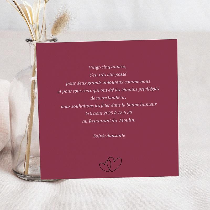 Carte Invitation Anniversaire Mariage Noces pas cher