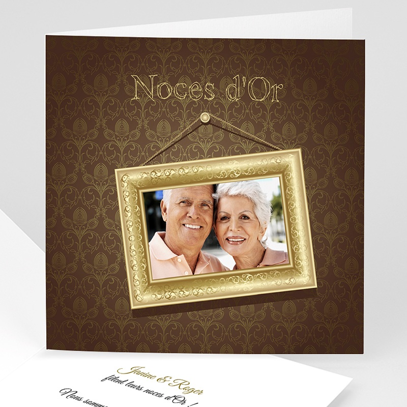 Invitations Anniversaire Mariage - Noces d'or- 50 ans 2764 thumb