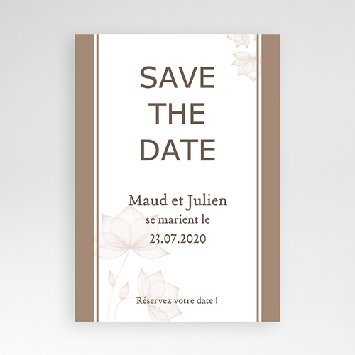 Save-The-Date - Chocolat Stylisé 2776
