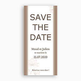 Save the date mariage Elégant Choco