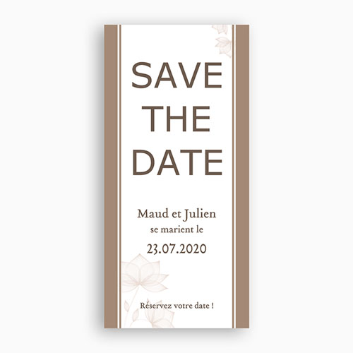 Save-The-Date - Elégant Choco 2780