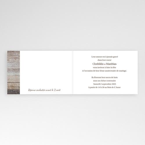 Invitations Anniversaire Mariage - Noces de bois - 5 ans 2785 thumb
