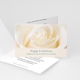 Invitations Anniversaire mariage Noces de Rose - 17 ans de Mariage
