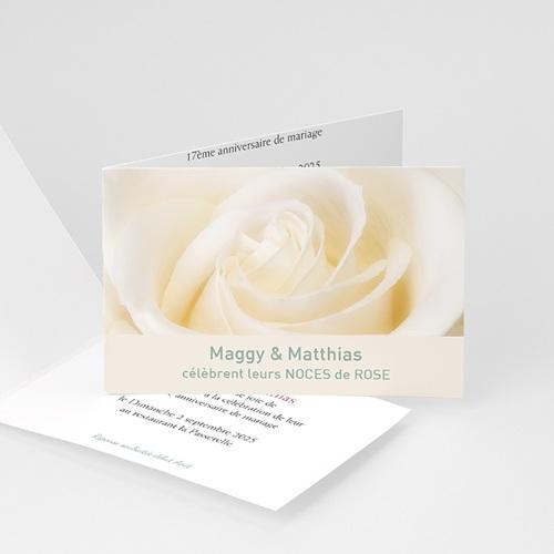 Invitations Anniversaire Mariage - Noces de Rose - 17 ans de Mariage 2788