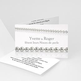 Invitations Anniversaire mariage Noces de Perle - 30 ans