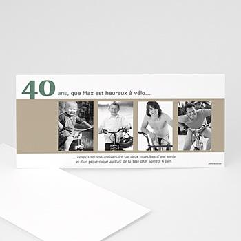 Carte invitation anniversaire adulte Photos d'enfance