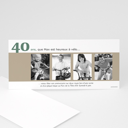 Carte Invitation Anniversaire Adulte Photos d'enfance