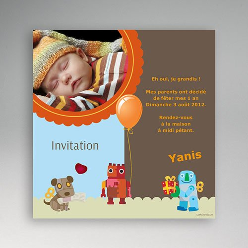 Carte invitation anniversaire garçon Invitation Ludique