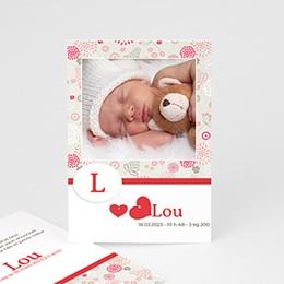 Faire-part naissance fille Lou