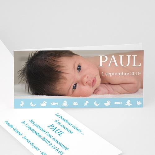 Faire-Part Naissance Garçon - Paul 2866 thumb