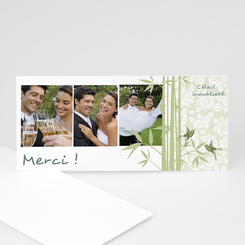 Remerciements Mariage Personnalisés Bambou et photos