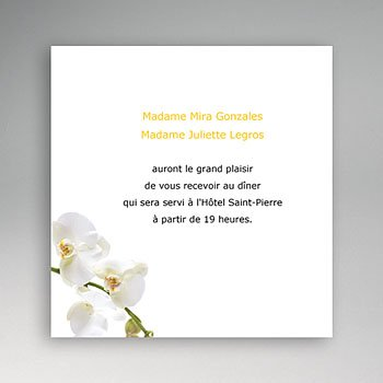 Carton Invitation Personnalisé Ambiance Orchidée