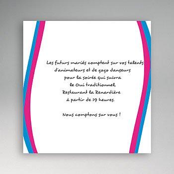 Acheter carton invitation personnalisé une fille et un gars