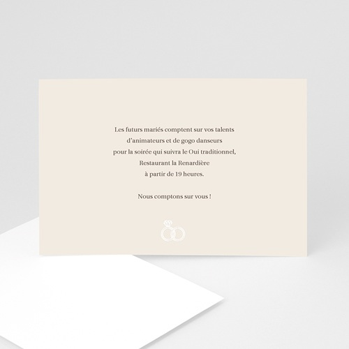 Carton Invitation Personnalisé Accord d'Alliances