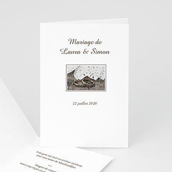 Acheter menu mariage personnalisé livret de l'alliance