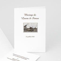 Menu Mariage Personnalisé Livret de l'Alliance