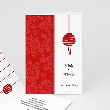Création menu mariage personnalisé spécialité chine