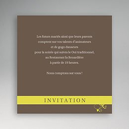 Invitations Marron élégant