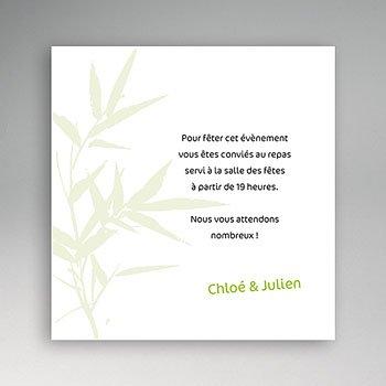 Carton invitation personnalisé bambou sur mesure