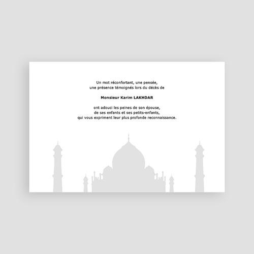 Carte Remerciement Décès Musulman Remerciements décès musulman pas cher