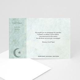 Carte remerciement décès musulman Yasin