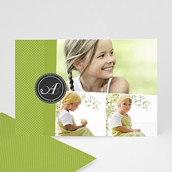 Carte personnalisée 3 photos et plus Multi photo 3 Vert printemps