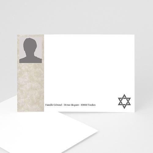 Carte remerciement décès juif Yahrzeit