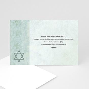 Créer soi même carte remerciement décès juif hatikvah - memento, confession juive