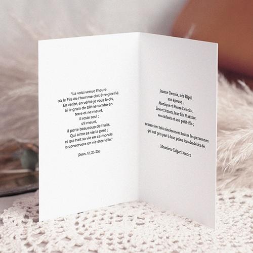 Remerciements Décès Chrétien - Renaissance éternelle - carte de deuil 3227 preview