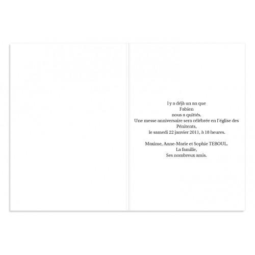 Remerciements Décès Chrétien - Triste fleur  3231 thumb