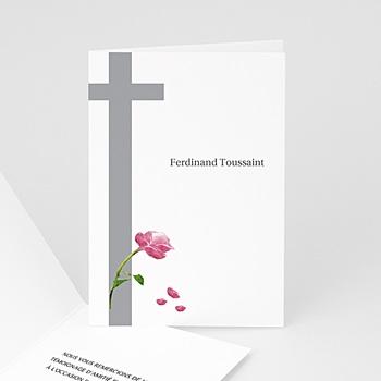 Carte remerciement décès chrétien ave maria - 3 pas cher