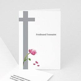Carte remerciement décès chrétien Ave Maria - 3