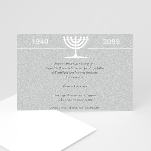 Remerciements Décès Juif - Triste menorah 3246